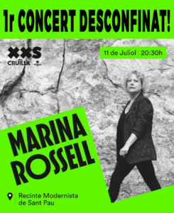 cartell Marina Rossell al Cruïlla XXS 2020