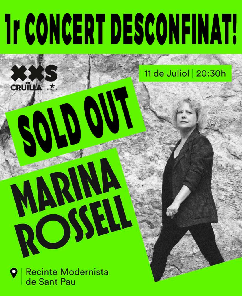 Cartell Marina al Cruïlla 2020 SOLD OUT